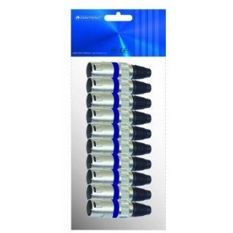 OMNITRONIC XLR plug 3pin bu 10x #3
