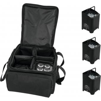 EUROLITE Set 4x AKKU UP-4 HCL Spot WDMX bk + SB-4 Soft-Bag