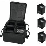 EUROLITE Set 4x AKKU UP-4 HCL Spot WDMX bk + SB-4 Soft-Bag
