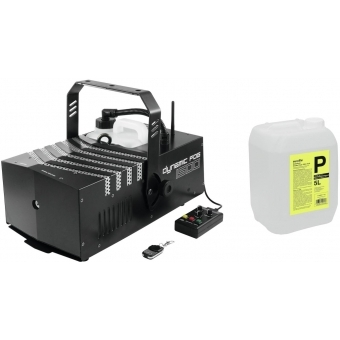 EUROLITE Set Dynamic Fog 1500 Flex + Smoke fluid -P2D- 5l