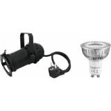 EUROLITE Set PAR-16 Spot bk + GU-10 230V COB 1x3W LED 6000K