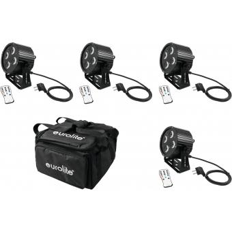 EUROLITE Set 4x LED PS-4 HCL Spot + SB-4 Soft-Bag