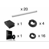 EUROLITE Set 20x LED Pixel Pole 50Cm + LED PSU-4A + MADRIX KEY e