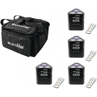 EUROLITE Set 4x AKKU TL-3 TCL Trusslight + SB4 Soft-Bag