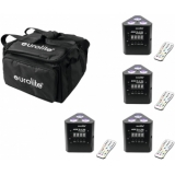 EUROLITE Set 4x AKKU TL-3 TCL Trusslight + SB4 Soft-Bag