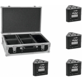 EUROLITE Set 4x LED TL-3 TCL 3x3W Trusslight + Case