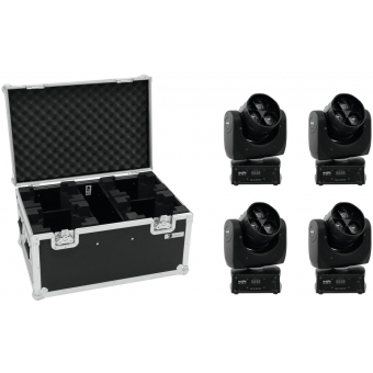 EUROLITE Set 4x LED TMH-14 Moving-Head Zoom Wash + Case