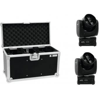 EUROLITE Set 2x LED TMH FE-300 Beam/Flower effect + Case