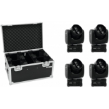 EUROLITE Set 4x LED TMH FE-300 Beam/Flower effect + Case