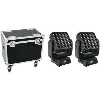 EUROLITE Set 2x LED TMH-X25 Moving-Head + Case #1
