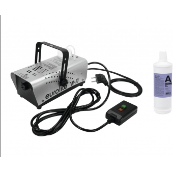 EUROLITE Set N-10 silver + A2D Action smoke fluid 1l