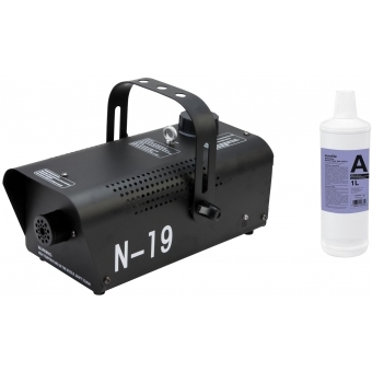 EUROLITE Set N-19 Smoke machine black + A2D Action smoke fluid 1