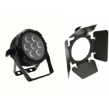 EUROLITE Set PRO Slim PAR-7 QCL RGBA + Barndoors
