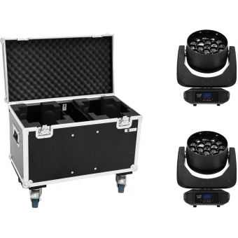 EUROLITE Set 2x LED TMH FE-1800 + Case
