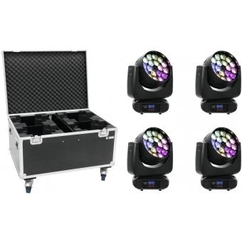 EUROLITE Set 4x LED TMH FE-1800 + Case