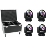 EUROLITE Set 4x LED TMH FE-1800 + Case