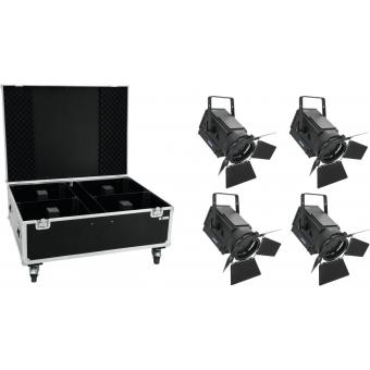 EUROLITE Set 4x LED THA-250F + Case