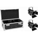 EUROLITE Set 2x LED THA-40PC bk + Case