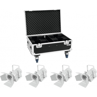 EUROLITE Set 4x LED THA-40PC wh + Case