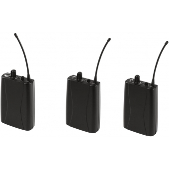 OMNITRONIC Set WMT-1M UHF Transmitter + 2x WMR-1M UHF Receiver