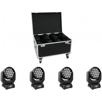 EUROLITE Set 4x LED TMH-X5 + Case