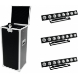 EUROLITE Set 4x LED PMB-8 COB RGB + Case