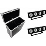 EUROLITE Set 2x LED PMB-4 COB RGB + Case