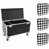 EUROLITE Set 4x LED PMC-25x10W COB RGB + Case