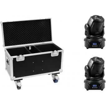 EUROLITE Set 2x LED TMH-60 MK2 + Case with wheels