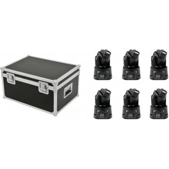 EUROLITE Set 6x LED TMH-6 + Case