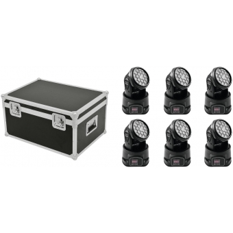 EUROLITE Set 6x LED TMH-7 + Case