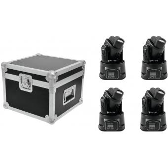 EUROLITE Set 4x LED TMH-6 + Case