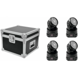 EUROLITE Set 4x LED TMH-7 + Case