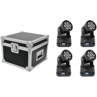 EUROLITE Set 4x LED TMH-9 + Case