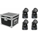 EUROLITE Set 4x LED TMH-9 + Case