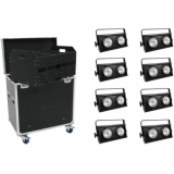 EUROLITE Set 8x Audience Blinder 2x100W LED COB + Case