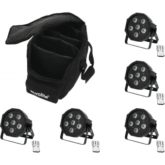 EUROLITE Set 5x LED SLS-603 + Case