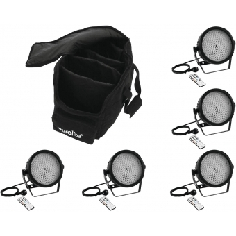 EUROLITE Set 5x LED SLS-184 + Case