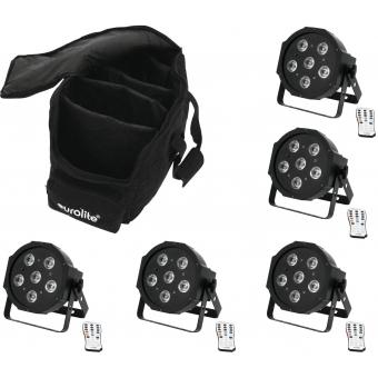EUROLITE Set 5x LED SLS-6 UV Floor + Case