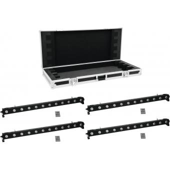 EUROLITE Set 4x LED BAR-1250 RGB+UV + EC Case