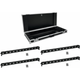 EUROLITE Set 4x LED BAR-1250 RGB+UV + PRO Case