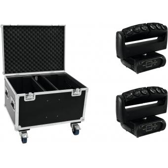 FUTURELIGHT Set 2x Wave LED Moving Bar + Case