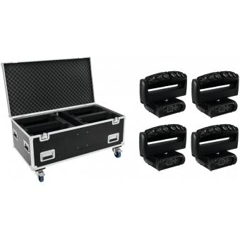 FUTURELIGHT Set 4x Wave LED Moving Bar + Case