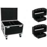 FUTURELIGHT Set 2x Color Wave LED Moving Bar + Case