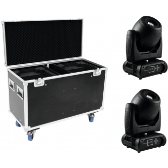 FUTURELIGHT Set 2x DMH-160 LED Moving-Head + Case