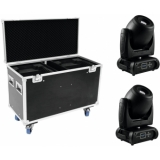 FUTURELIGHT Set 2x DMH-160 LED Moving-Head + Case