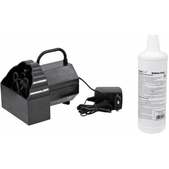EUROLITE Set B-50 Bubble machine + bubble fluid 1l