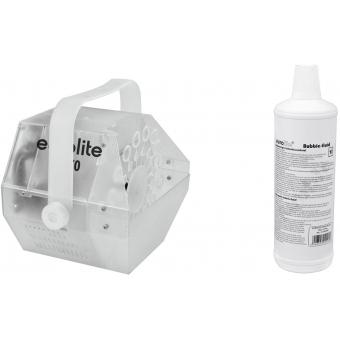 EUROLITE Set LED B-70 Bubble machine + bubble fluid 1l