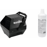 EUROLITE Set B-90 Bubble machine black + bubble fluid 1l