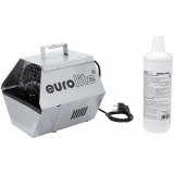 EUROLITE Set B-90 Bubble machine silver + bubble fluid 1l